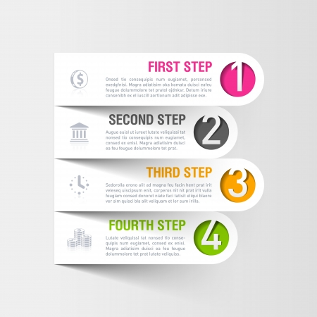 Moderne zakelijke infographics template