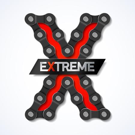 maschinenteile: Extreme - Fahrrad-Kette Illustration