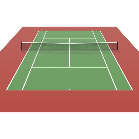 Tennis court Stock Vector - 20183754
