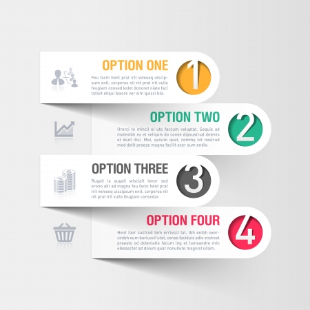 banner design: Modern business infographics template