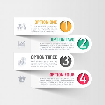 the arrow: Modern plantilla de infograf?