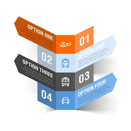 consecutive: Abstract travel theme infographics template