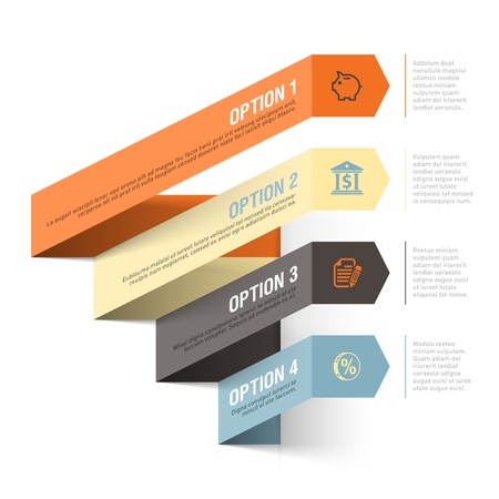 paper graphic: Bank theme abstract infographics template