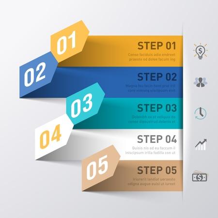 spruchband: Business Process abstrakte Infografiken Vorlage Illustration