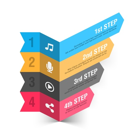 consecutive: Music theme abstract infographics template