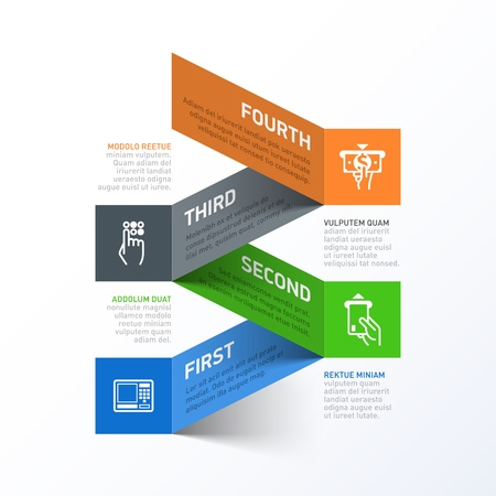 withdrawing: Withdrawing cash from ATM abstract infographics template