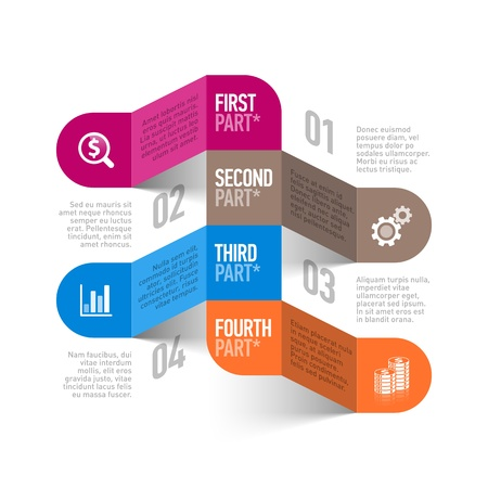 business process: Business process abstract infographics template Illustration