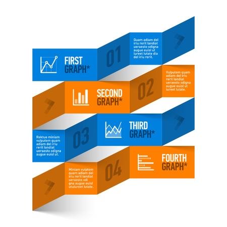 entwurf: Stock chart Thema moderne Infografiken Vorlage