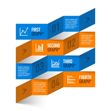 data exchange: Stock chart theme modern infographics template