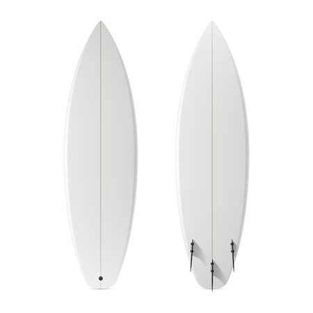 Blank surfboard Illustration