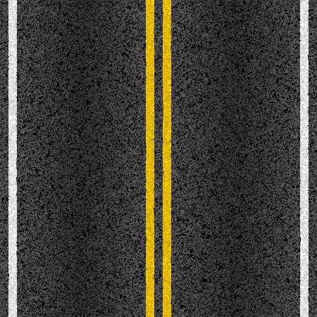 アスファルト道路標示ライン  イラスト・ベクター素材