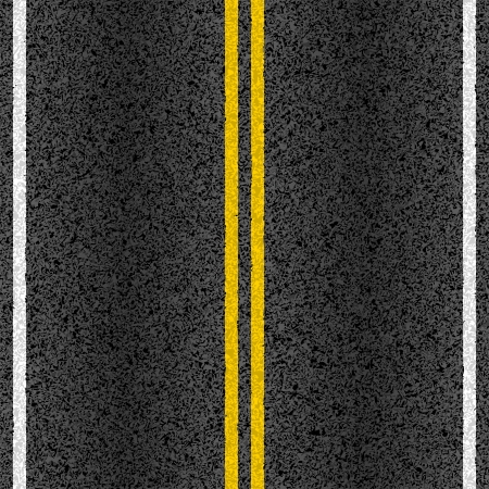 the roadside: Asphalt road with marking lines Illustration