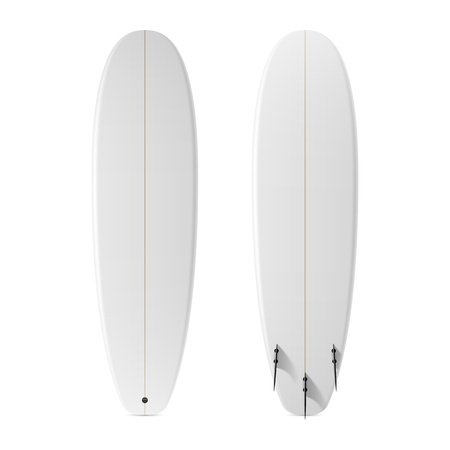 Blank surfboard Vector