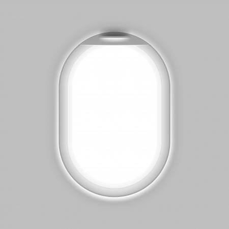 white window: Ventana de Aeronaves Vectores