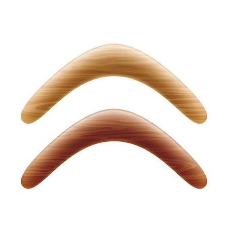 boomerang: Wooden boomerang Illustration