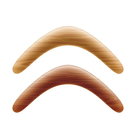 returning: Wooden boomerang Illustration