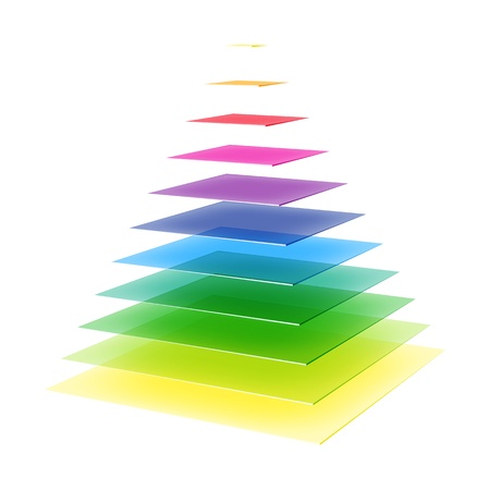 Layered rainbow pyramid Stock Vector - 21919552