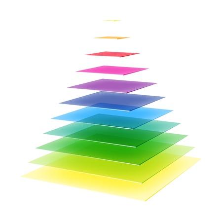 Layered rainbow pyramid Stock Vector - 21919552