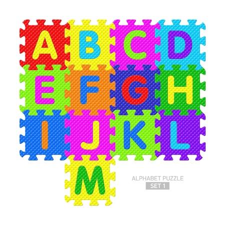 Alphabet puzzle Vector