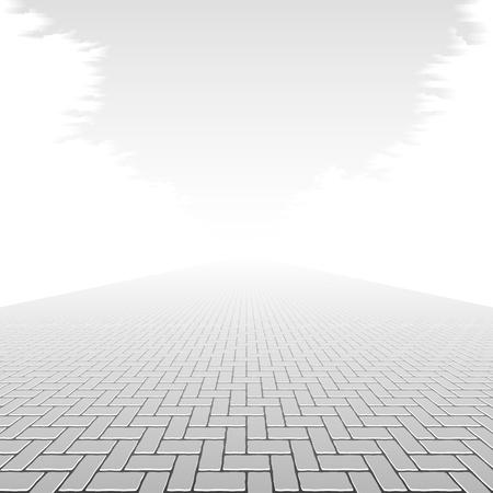 Pavimento de hormigón Ilustración de vector