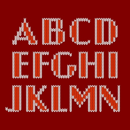 Knitted alphabet Stock Vector - 22000358