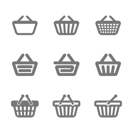 shopping basket: Shopping basket icons Illustration
