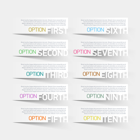 consecutive: Abstract infographics options design template