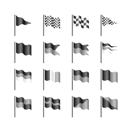 checked flag: Flags template  Create your own  Illustration