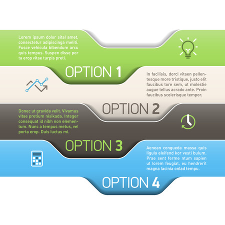 sequence: Infographics option design template