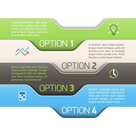 consecutive: Infographics option design template