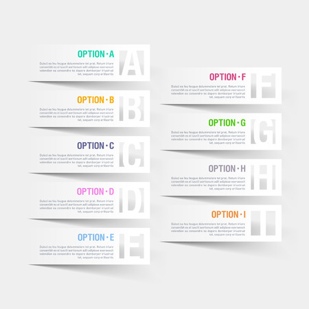 Abstract infographics letter options template Vector