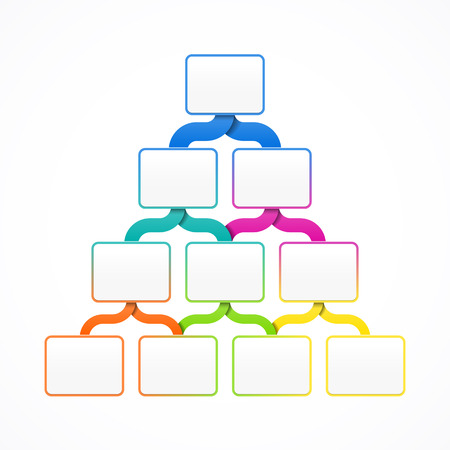 consecutive: Pyramid hierarchy template for design, infographics or presentation Illustration