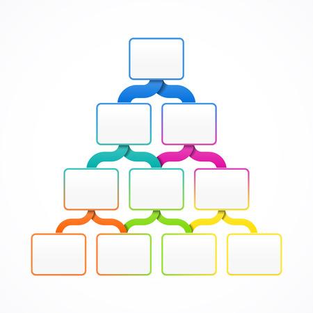 Plantilla de jerarquía piramidal de diseño, infografía o la presentación