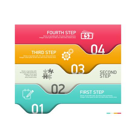 jerarquia: Infograf�a pasos plantilla de dise�o