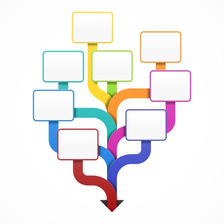 Plantilla del árbol de visita en blanco para el diseño, la infografía o la presentación