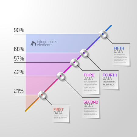 consecutive: Business diagram infographics element