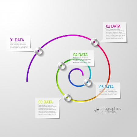 Spiral diagram infographics element Vector
