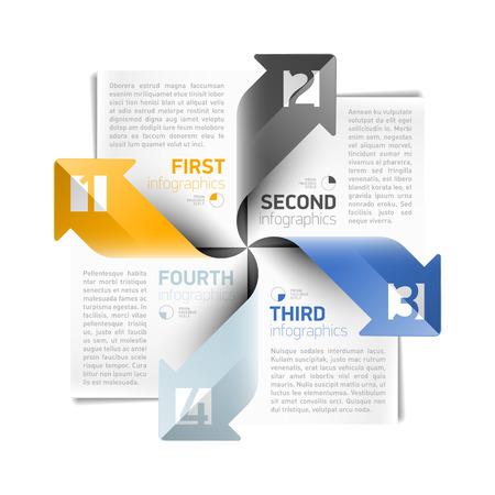 module: Arrows infographics design template
