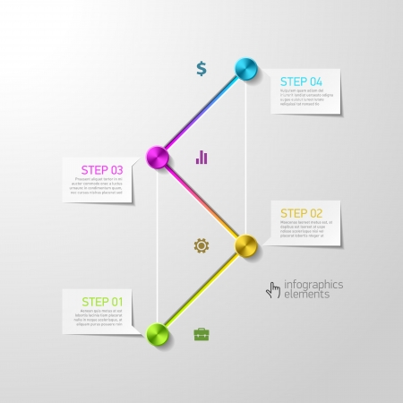 Abstract steps infographics design template Stock Vector - 22397143
