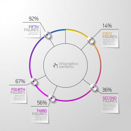 Pie chart infographics element Vector