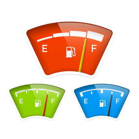 Fuel indicator Stock Vector - 22397153