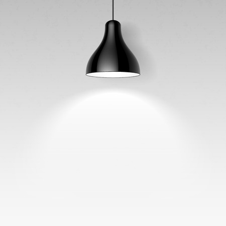 Lámpara de techo Negro Ilustración de vector