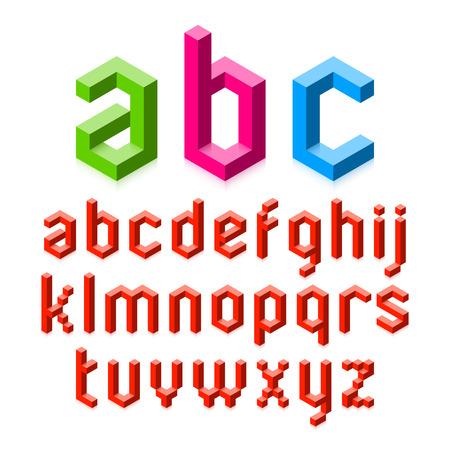 alfabeto: Alfabeto 3D Vectores