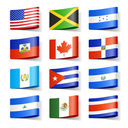World flags  North America  Vector