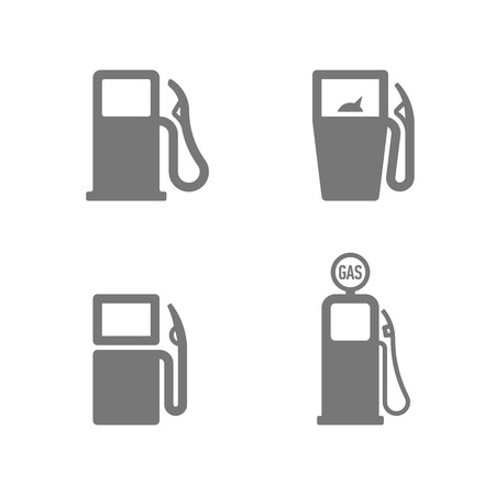 gas pump: Gas pump icons Illustration