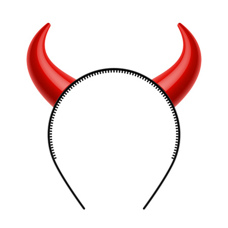 Devils horns head gear Vector