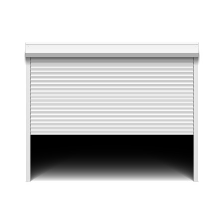 door: Roller shutter garage door Illustration