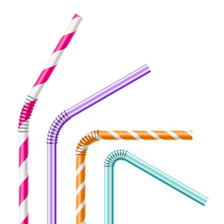 Kleurrijke rietjes Vector Illustratie