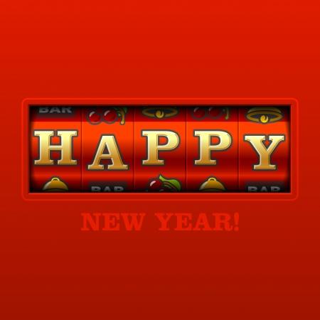 winter cherry: Happy New Year card