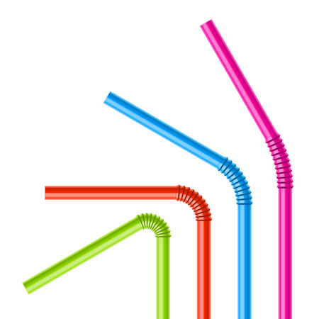 Colorful drinking straws Stock Vector - 23123995